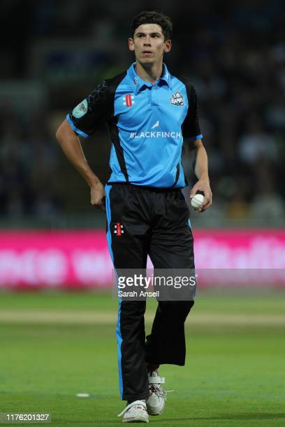 Pat Brown of Worcestershire Rapids during the Vitality T20 Blast Final match between Worcestershire Rapids and Essex Eagles at Edgbaston on September...