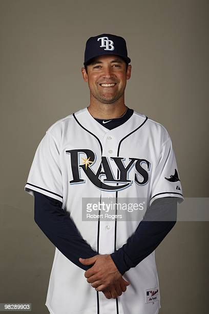 Pat Burrell of the Tampa Bay Rays poses during Photo Day on Friday February 26 2010 at Charlotte County Sports Park in Port Charlotte Florida
