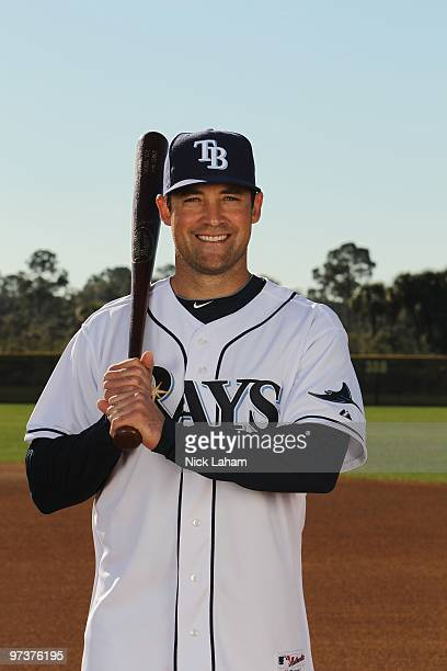 Pat Burrell of the Tampa Bay Rays poses for a photo during Spring Training Media Photo Day at Charlotte County Sports Park on February 26 2010 in...