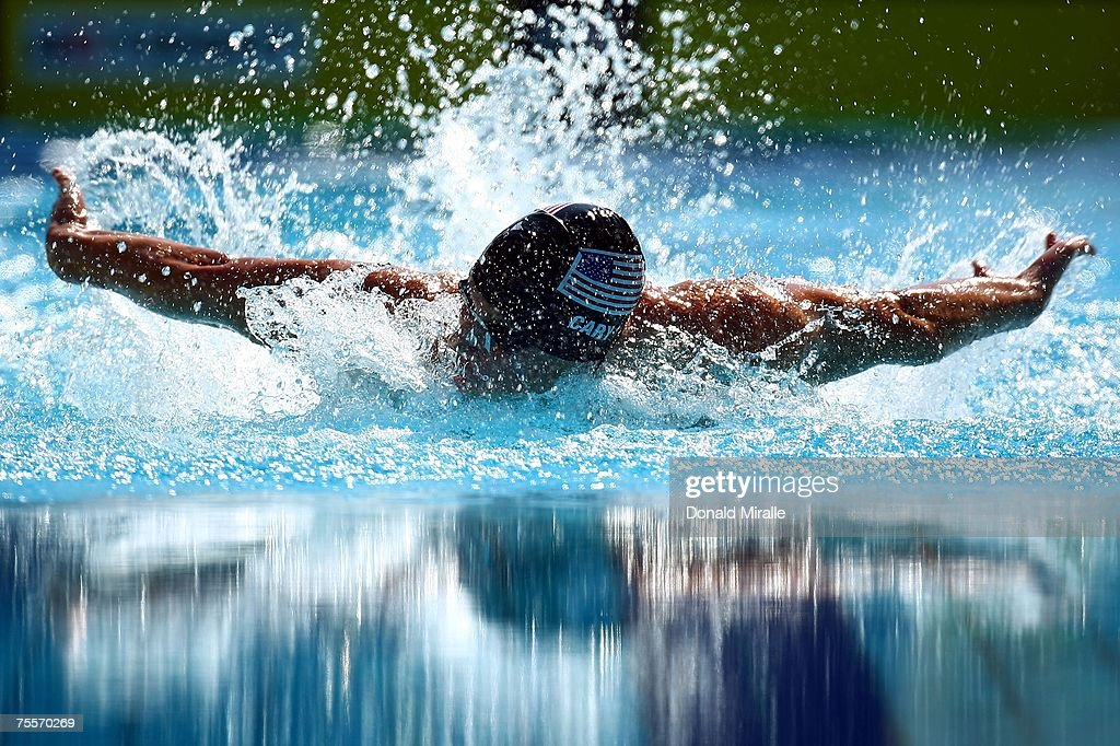 Pat Cary of the United States of America competes in the Men's 200 meter butterfly semifinal during the 2007 XV Pan American Games at the Aquatic Park on July 20, 2007 in Rio de Janeiro, Brazil.