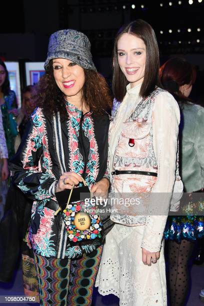 Pat Cleveland and Coca Rocha attend the Anna Sui front row during New York Fashion Week The Shows at Gallery I at Spring Studios on February 11 2019...