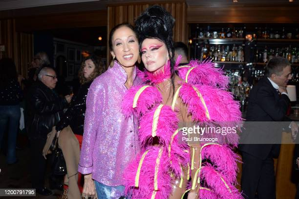 Pat Cleveland and Susanne Bartsch attend MAC Nordstrom And The CFDA Host The After Party For The Times Of Bill Cunningham at Bistrot Leo on February...