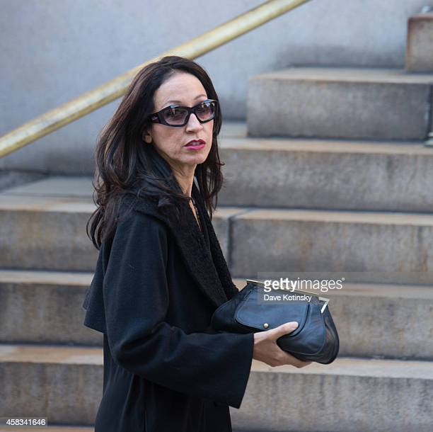 Pat Cleveland arrives at the funeral of fashion designer Oscar De La Renta at St Ignatius Of Loyola on November 3 2014 in New York City