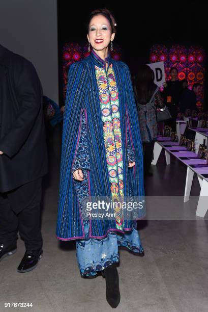 Pat Cleveland attends Anna Sui Front Row February 2018 New York Fashion Week at Spring Studios on February 12 2018 in New York City