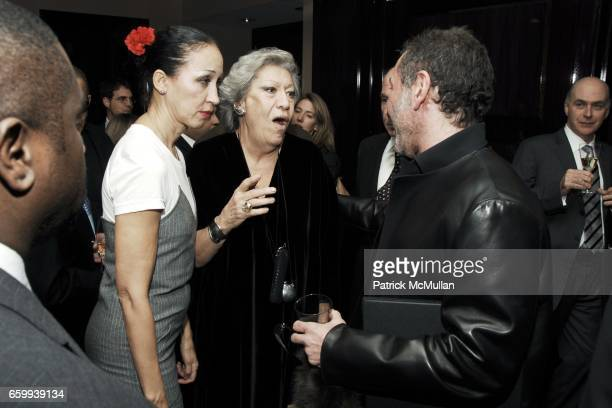 Pat Cleveland, Elsa Peretti and Ralph Rucci attend ELSA PERETTI Celebrates 35 Years with TIFFANY & Co. At Tiffany & Co. On December 10, 2009 in New...