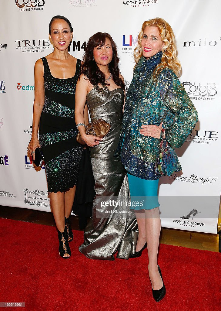 Pat Cleveland, Jeanine Jeo-Hi Kim and Debbie Dickinson attend the 2nd Annual Women & Fashion FilmFest Red Carpet Opening at Gold Bar on June 3, 2014 in New York City.