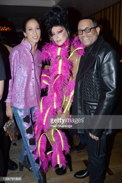 Pat Cleveland Susanne Bartsch and Maurice Lynch attend MAC Nordstrom And The CFDA Host The After Party For The Times Of Bill Cunningham at Bistrot...