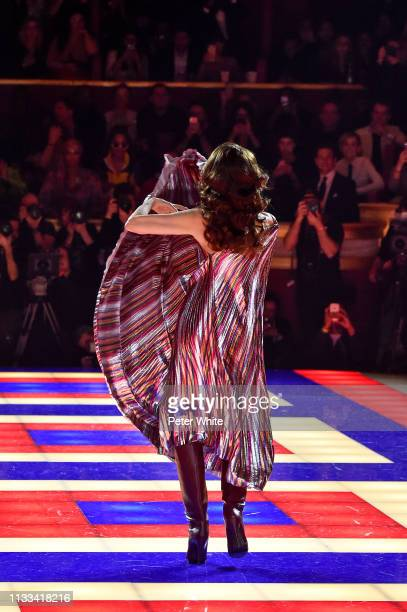 Pat Cleveland walks the runway during the Tommy Hilfiger TOMMYNOW Spring 2019 TommyXZendaya Premieres at Theatre des ChampsElysees on March 02 2019...