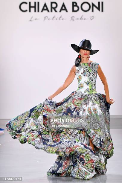 Pat Cleveland walks the runway for Chiara Boni during New York Fashion Week The Shows at Gallery II at Spring Studios on September 07 2019 in New...
