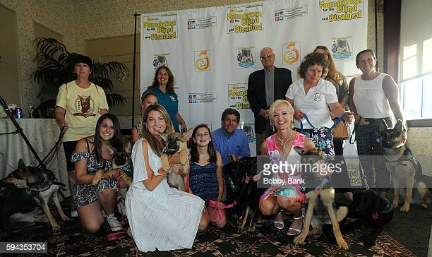 Pat Cooper Ann Liguori and Shannon Steitz attend the 2016 Lucas Foundation Golf And Dinner Awards at Brooklake Country Club on August 22 2016 in...