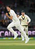 adelaide australia pat cummins australia celebrates