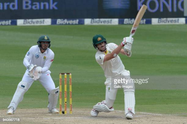 Pat Cummins of Australia during day 3 of the 4th Sunfoil Test match between South Africa and Australia at Bidvest Wanderers Stadium on April 01 2018...