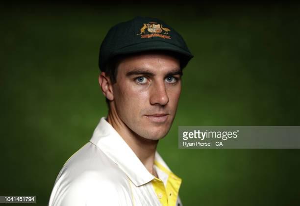 Pat Cummins of Australia poses during the Australian Men's Test Portrait Session on September 17 2018 in Brisbane Australia