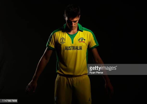 Pat Cummins of Australiaposes during an Australia ICC One Day World Cup Portrait Session on May 07, 2019 in Brisbane, Australia.