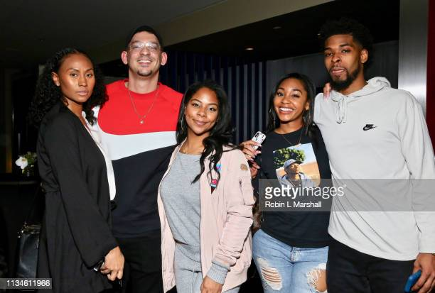 Pat D Lucky Yanira Pache Jasmine Luv and friends attend Universal US First Screening Los Angeles at Pacific Design Center on March 08 2019 in West...