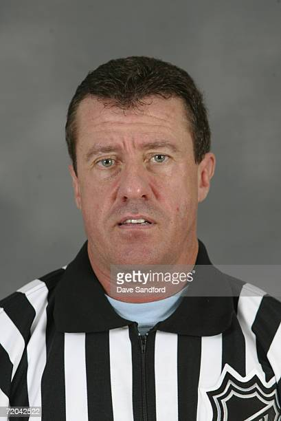 Pat Dapuzzo poses for a portrait during the NHL Officials Camp in Fort Erie Ontario Canada on September 9 2006