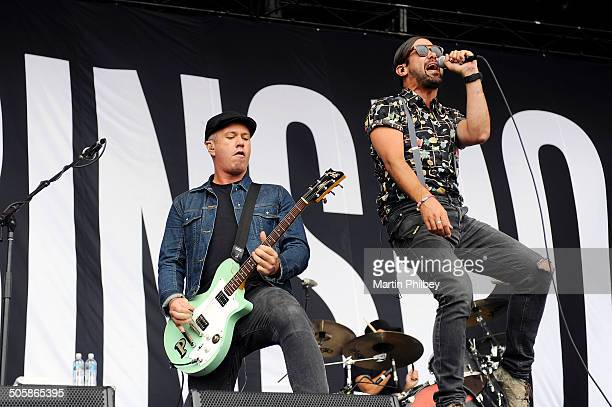Pat Davern and Phil Jameison of Grinspoon perform on stage at the Big Day Out on 26th January 2013 at the Flemington Racecourse in Melbourne Australia