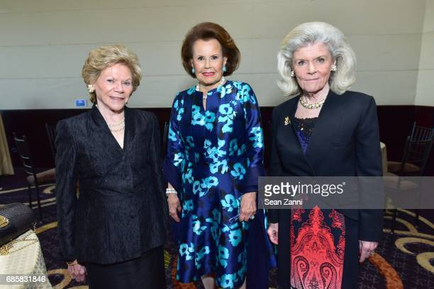 Pat Dunnington Hildegarde Mahoney and Liz Gardiner attend The Boys' Club of New York Annual Awards Dinner at Mandarin Oriental Hotel on May 17 2017...