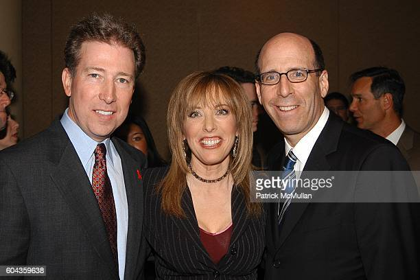 Pat Esser Linda Cohn and Matt Blank attend Cable Positive and Cable TV BigWigs Avow Industry's Fight Against HIV/AIDS at Marriott Marquis on March 7...
