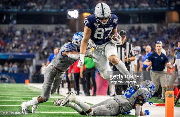Pat Freiermuth of the Penn State Nittany Lions during the Goodyear Cotton Bowl Classic at ATT Stadium on December 28 2019 in Arlington Texas