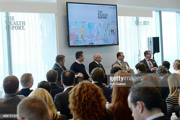 Pat Galligar Marc Kushner President and CEO of Vector Group Howard Lorber journalist Robert Frank and David Friedman attend the Douglas Elliman...