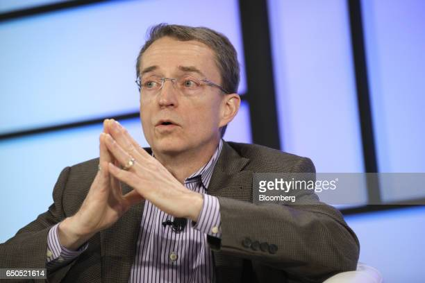 Pat Gelsinger chief executive officer of VMWare Inc speaks during the Montgomery Summit in Santa Monica California US on Thursday March 9 2017 The...