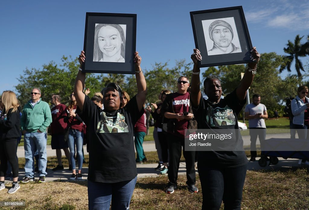 Across U.S., Students Walk Out Of Schools To Address School Safety And Gun Violence : News Photo