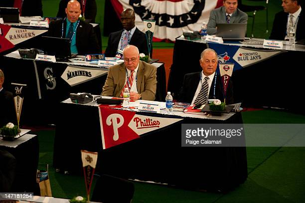 Pat Gillick is seen during the 2012 FirstYear Player Draft Monday June 4 at MLB Network's Studio 42 in Secaucus New Jersey