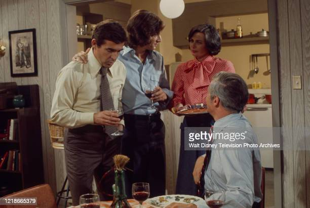 Pat Harrington Jr Michael Brandon Norma Crane Arthur Hill appearing in the ABC tv series 'Owen Marshall Counselor at Law' episode 'Journey Through...