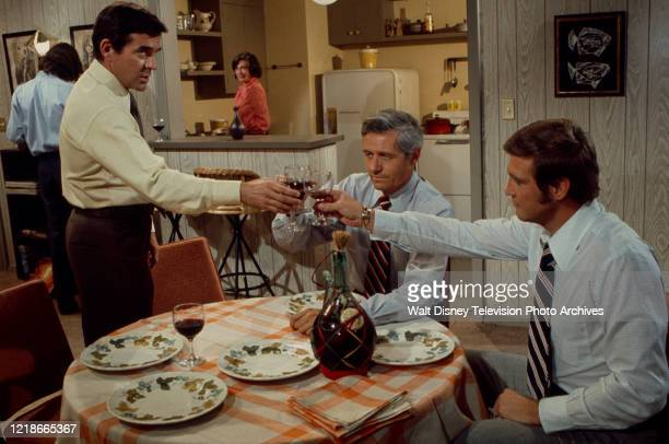 Pat Harrington Jr Norma Crane Arthur Hill Lee Majors appearing in the ABC tv series 'Owen Marshall Counselor at Law' episode 'Journey Through Limbo'