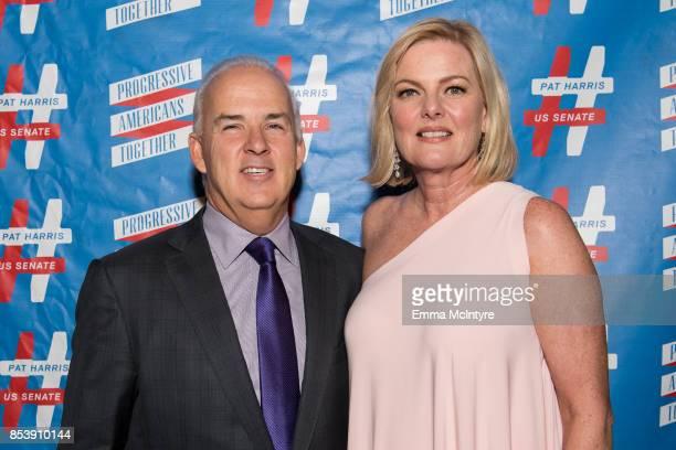 Pat Harris and Carol Welsman arrive at 'Pat Harris' California Democratic US Senate run 2018 kick off' at Catalina Jazz Club Bar Grill on September...