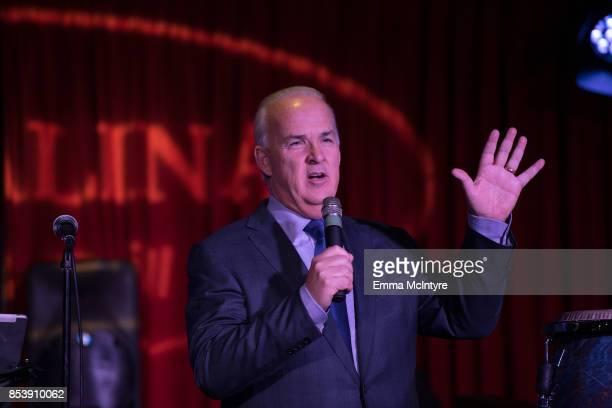Pat Harris speaks onstage at 'Pat Harris' California Democratic US Senate run 2018 kick off' at Catalina Jazz Club Bar Grill on September 25 2017 in...