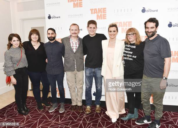 Pat Healy actress Taylor Schilling and Director Jay Duplass attend the premiere of The Orchard's Take Me at The London West Hollywood on May 4 2017...