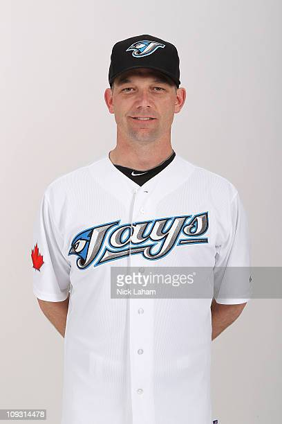 Pat Hentgen of the Toronto Blue Jays poses during photo day at Florida Auto Exchange Stadium on February 20 2011 in Dunedin Florida