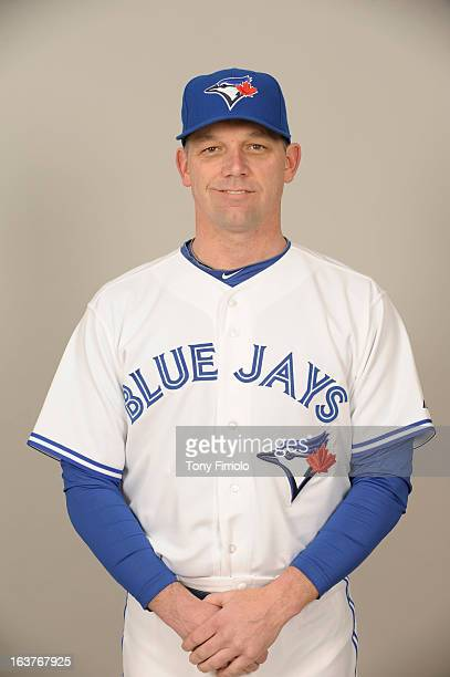 Pat Hentgen of the Toronto Blue Jays poses during Photo Day on February 18 2013 at Florida Auto Exchange Stadium in Dunedin Florida