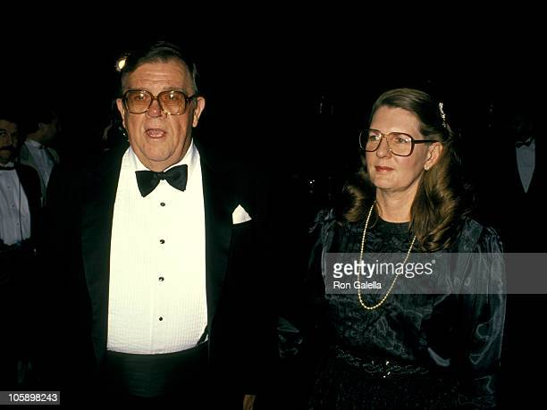 Pat Hingle and wife Julie Wright during 6th Annual Academy of Television Radio Awards at 20th Century Fox Studios in Los Angeles California United...