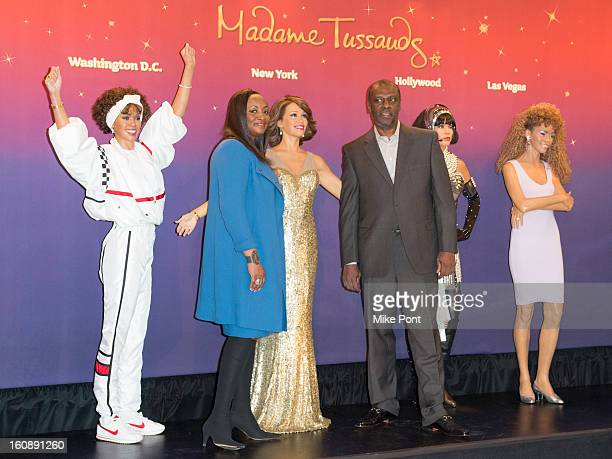 Pat Houston and Gary Houston attend Madame Tussauds Whitney Houston Wax Unveiling at Madame Tussauds on February 7 2013 in New York City