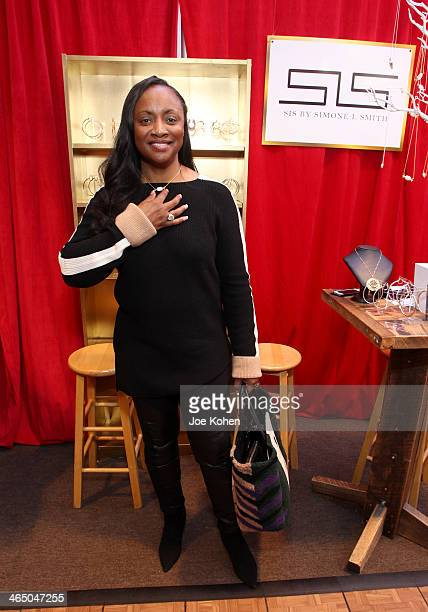 Pat Houston attends the GRAMMY Gift Lounge during the 56th Grammy Awards at Staples Center on January 25 2014 in Los Angeles California