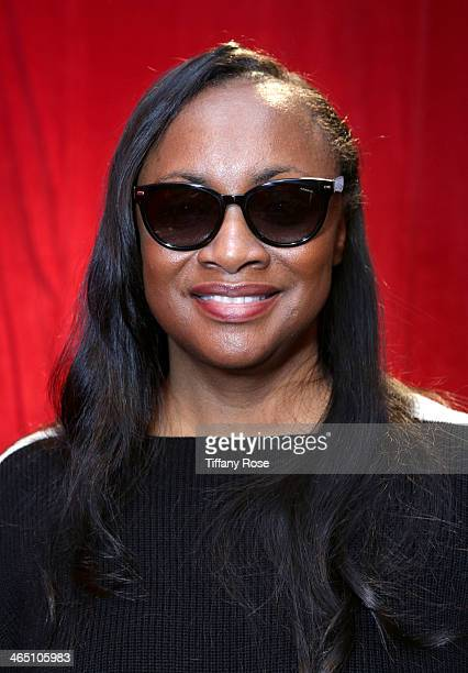 882e2cd0f04 Pat Houston wearing Polaroid sunglasses with the Solstice Sunglasses and  Safilo USA display at the GRAMMY
