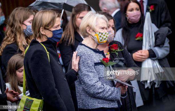 Pat Hume is comforted as the funeral takes place of her husband, former SDLP leader and Nobel Peace Prize winner John Hume at St Eugenes cathedral on...