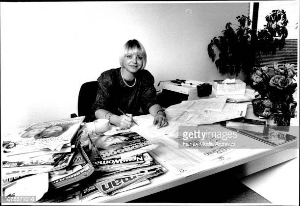 Pat Ingram editor of Good Housekeeping at her desk March 2 1987