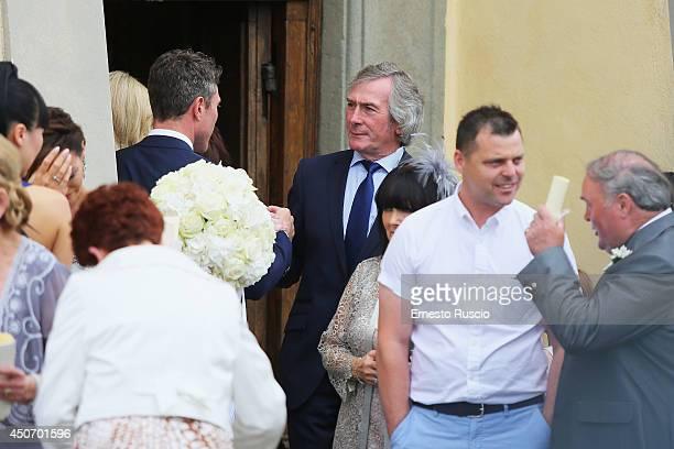 Pat Jennings attends the wedding of his son Pat Jennings Jr and Sarah Morrisey at Santa Maria in Selva on June 15 2014 in Montecatini Terme Italy