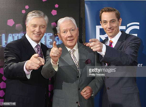 Pat Kenny Gay Byrne and Ryan Tubridy attend the 50th Anniversary Of 'The Late Late Show' on June 1 2012 in Dublin Ireland