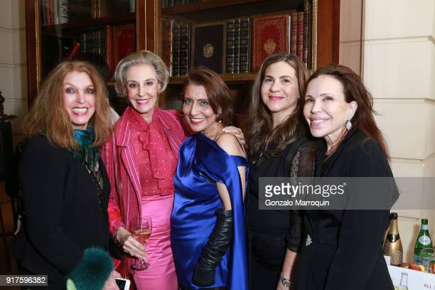 Pat Kerr Karen Burke Muna Rihani AlNasser guest and Jana Jaffe during the Susan Gutfreund Hosts UN Women For Peace Association Reception on February...