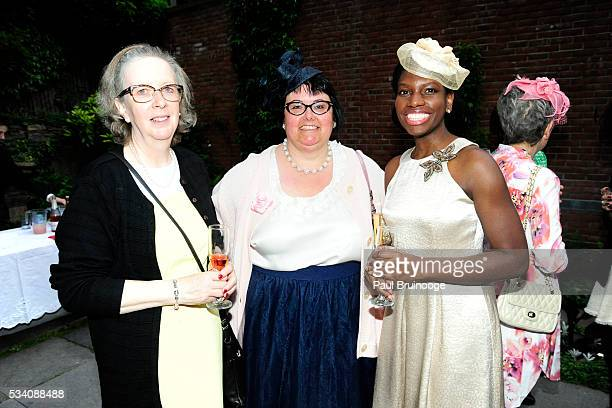 Pat Kingshott Lisa Kunze and Antoinette Harris attend Historic Royal Palaces Patrons Secret Garden Party at Merchant's House Museum on May 24 2016 in...