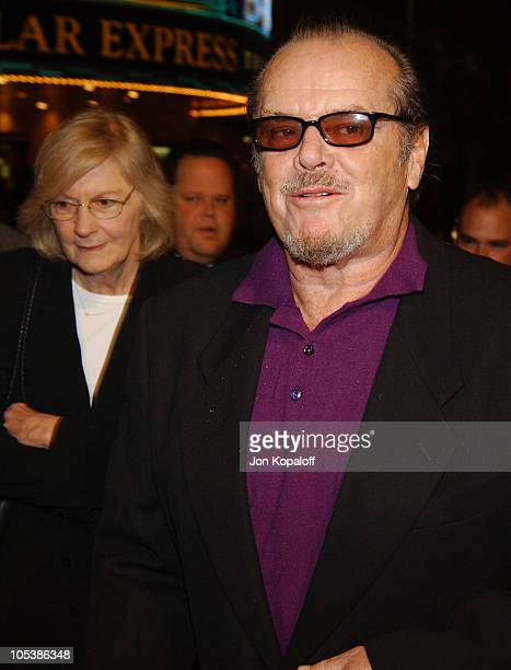 """Pat Kingsley, publicist, and Jack Nicholson during """"Spanglish"""" Los Angeles Premiere - Arrivals at Mann Village Theater in Westwood, California,..."""