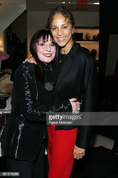 Pat Kurs and Alva Chinn attend A Celebration of Jed Johnson's Work and the Publication of His Book Opulent Restraint at Donna Karan Collection Store...