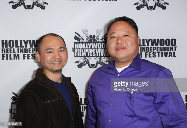 Pat Kusnadi and Alex Hwang arrive for The 2019 Hollywood Reel Independent Film Festival held at Regal LA Live Stadium 14 on February 15 2019 in Los...