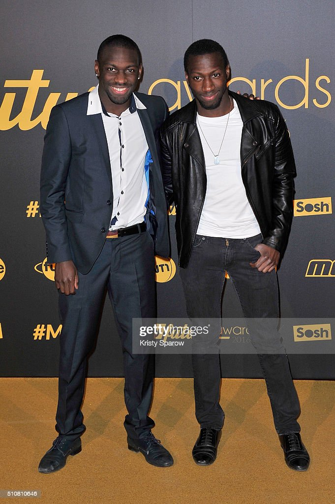 Pat La Real and Abdoulaye attend The Melty Future Awards 2016 at Le Grand Rex on February 16, 2016 in Paris, France.