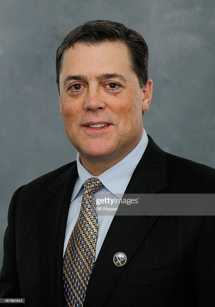Pat LaFontaine poses for his official headshot after being named President of Hockey Operations of the Buffalo Sabres on November 13, 2013 at the First Niagara Center in Buffalo, New York.